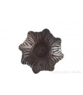 Photophore fleur pointue marron foncée