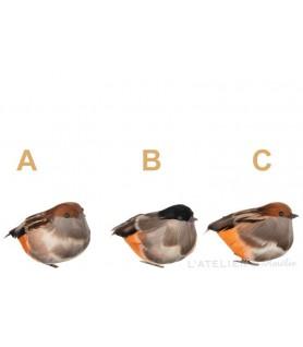 Oiseau avec clip à suspendre couleur orange / marron