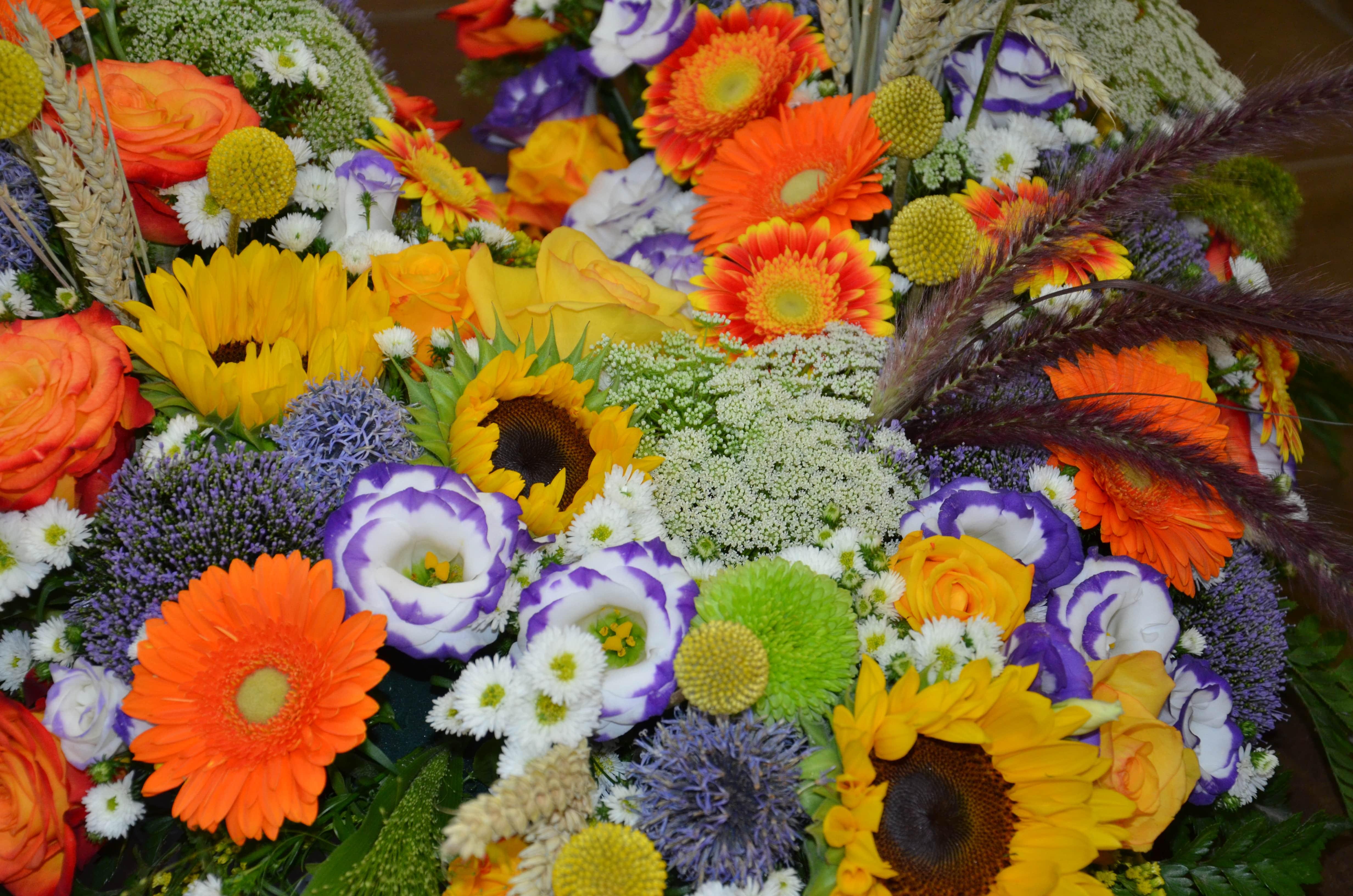Composition florale pour un dernier hommage